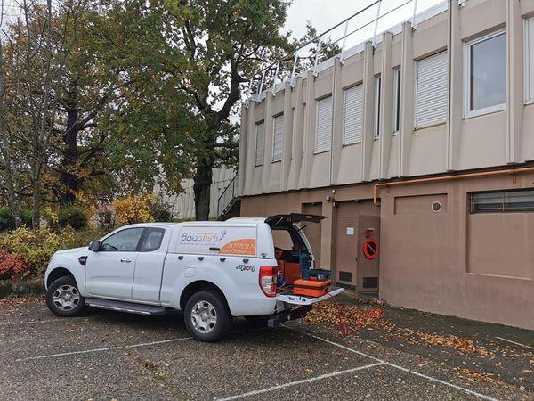 Détection d'une fuite sur un réseau de chauffage d'un Collège de Saint Étienne.